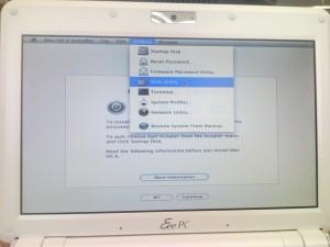 OS X setup disk utility